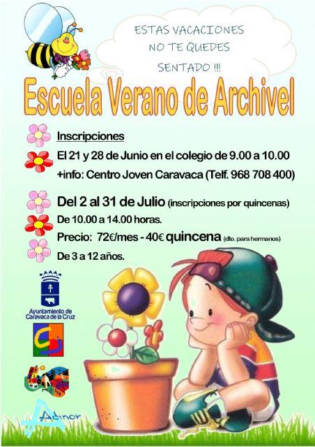 El Ayuntamiento de Caravaca oferta un programa de escuelas vacacionales de verano en el casco urbano, Barranda, Archivel y La Encarnación - 1, Foto 1