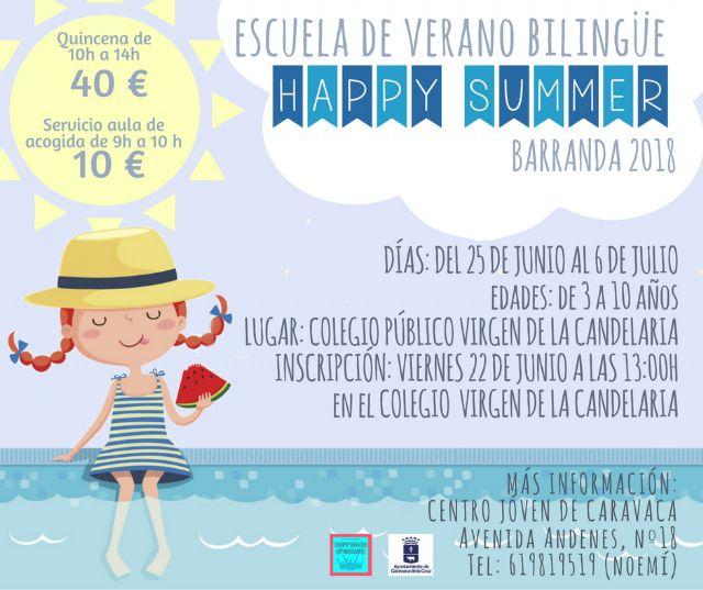 El Ayuntamiento de Caravaca oferta un programa de escuelas vacacionales de verano en el casco urbano, Barranda, Archivel y La Encarnación - 2, Foto 2