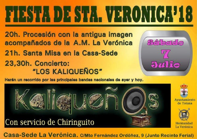 The festivities of the Brotherhood of La Verónica will be held on Saturday, July 7, next to the fairgrounds - 2