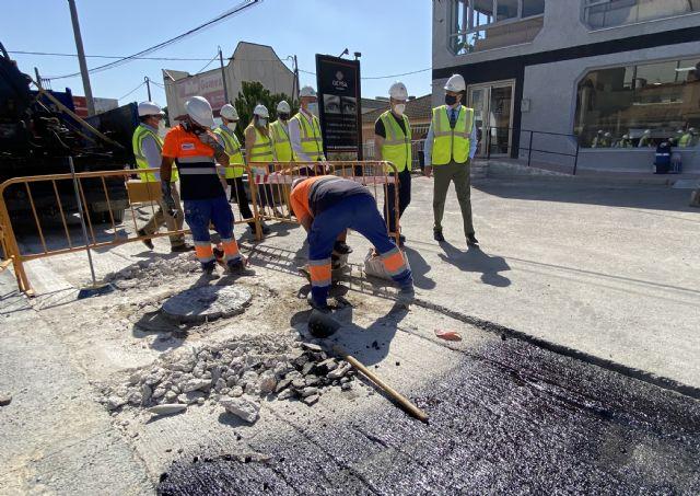El Ayuntamiento destina más de 460.000 euros a la ampliación de la red de saneamiento de Sangonera La Seca - 1, Foto 1