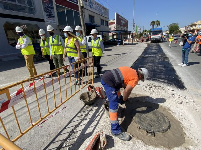 El Ayuntamiento destina más de 460.000 euros a la ampliación de la red de saneamiento de Sangonera La Seca - 3, Foto 3
