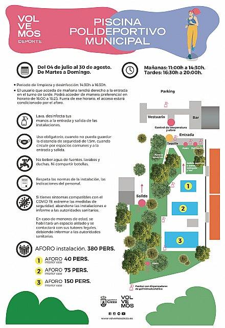 Apertura de las piscinas de verano del Polideportivo Municipal Mariano Rojas de Cieza - 1, Foto 1
