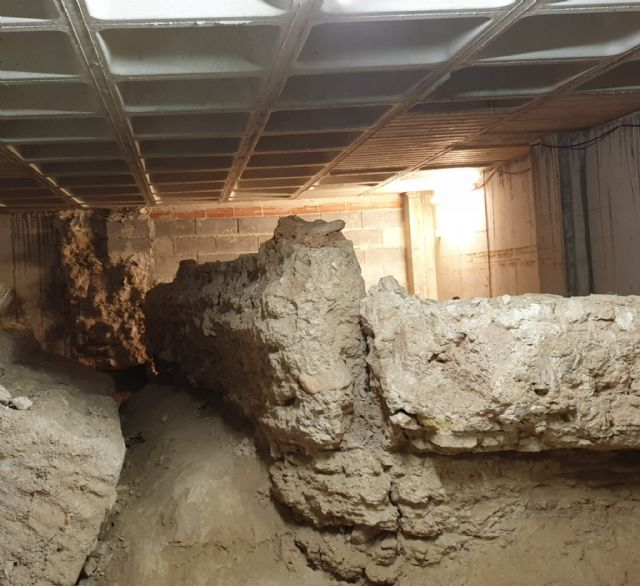 Los restos arqueológicos que se encuentran en un bajo comercial de la calle Sagasta serán recuperados - 3, Foto 3