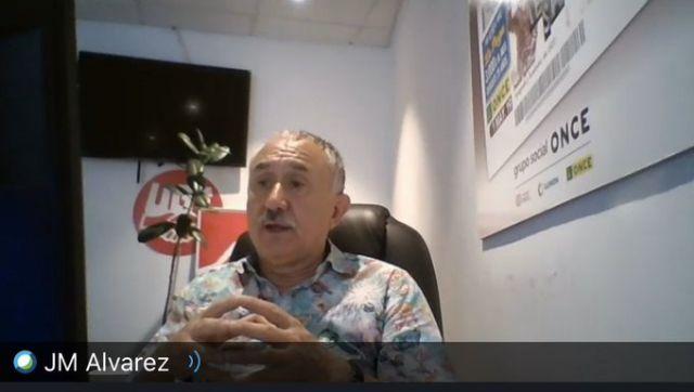 Pepe Álvarez clausuró el ciclo de Videoconferencias del Covid-19 organizadas por el PSOE de Cartagena - 1, Foto 1