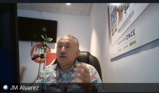 Pepe Álvarez clausuró el ciclo de Videoconferencias del Covid-19 organizadas por el PSOE de Cartagena - 2, Foto 2