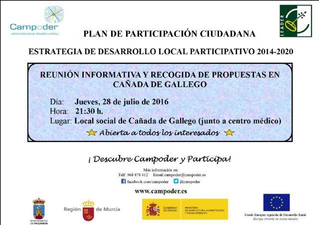 Reunión de Participación Ciudadana en Cañada de Gallego para recabar ideas que mejoren el desarrollo rural del municipio - 1, Foto 1