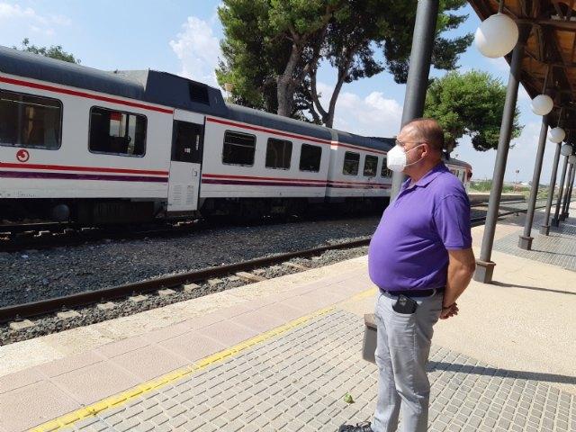 [El alcalde invita y anima a la ciudadanía a participar en la concentración por la defensa de la línea ferroviaria Murcia-Águilas