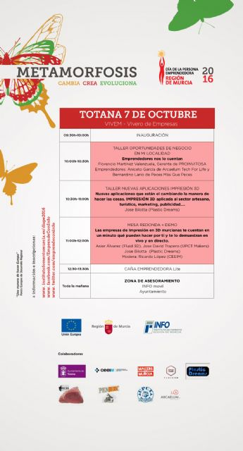 """A """"Day on business opportunities and new applications in 3D printing"""" on 7 October at the Business Incubator is organized"""