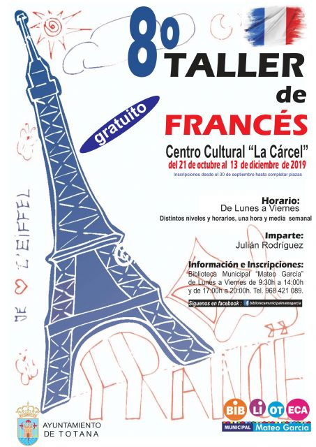 "The 8th French Conversation Workshop for children and young people will take place from October 21 to December 13 at the ""La Cárcel"" Sociocultural Center"