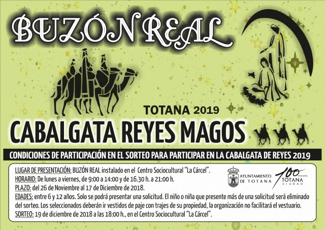 """The Royal Mailbox to participate in the Cavalcade of the Magi 2019 will remain in """"La Cárcel"""" from November 26 to December 17, Foto 1"""