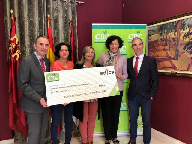 Caja Rural Central entrega 2.001 euros a la asociación lumbrerense de personas con discapacidad Adica - 1, Foto 1