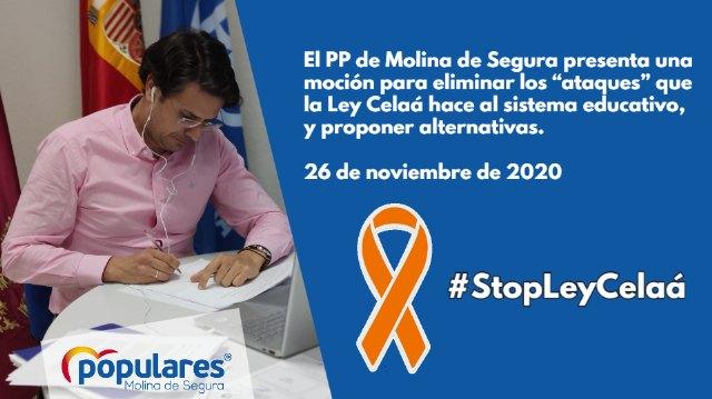 El PP de Molina de Segura presenta una moción para eliminar los ataques que la Ley Celaá hace al sistema educativo, y proponer alternativas - 1, Foto 1