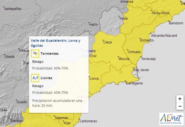 El Ayuntamiento de Lorca activa la fase de Preemergencia del Plan INUNLOR ante la alerta amarilla por riesgo de tormentas - 1, Foto 1