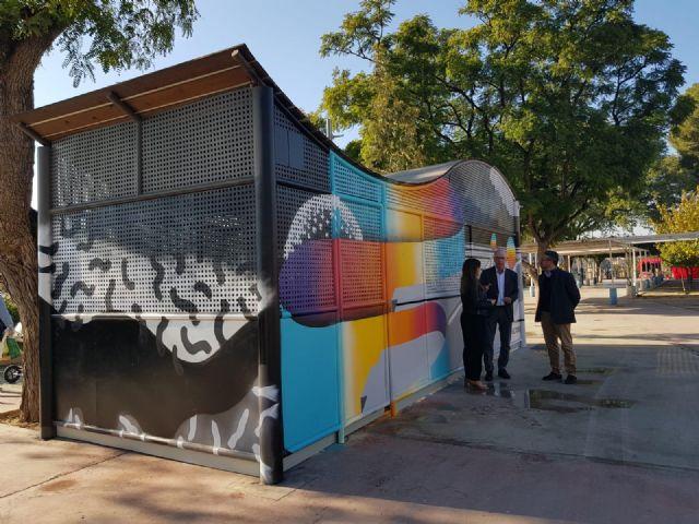 El Ayuntamiento convierte los 17 aparcamientos cerrados de bicicletas en lienzos para nuevas obras de arte - 2, Foto 2