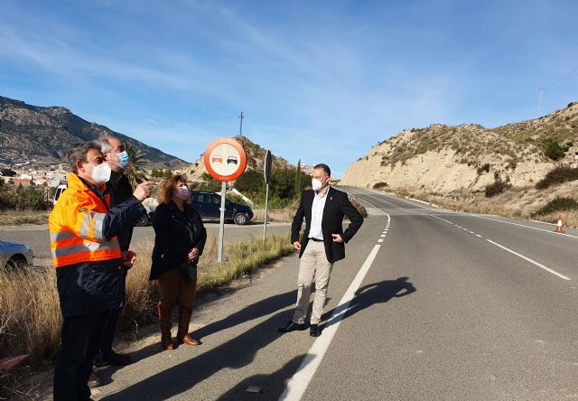 Fomento refuerza la seguridad de los usuarios de la carretera que une Abarán con Blanca gracias a la estabilización de sus taludes - 1, Foto 1