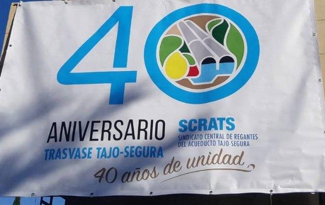 El PP propondrá ante el pleno que el Ayuntamiento de Totana se adhiera a las celebraciones por la conmemoración del 40 aniversario del trasvase Tajo-Segura.