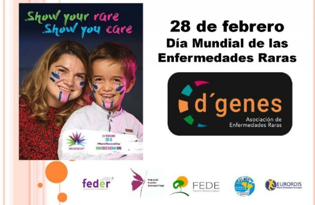 The Municipal Corporation will tomorrow make a symbolic act of support to the D'Genes Association before the regular plenary coinciding with the World Day of Rare Diseases