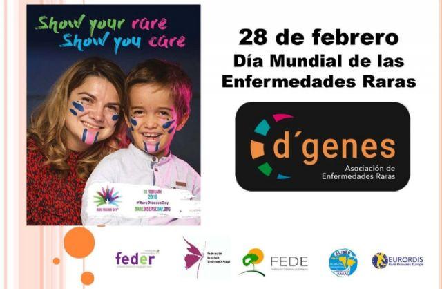 La Corporación municipal efectuará mañana un simbólico acto de apoyo a la Asociación D´Genes antes del pleno ordinario coincidiendo con el Día Mundial de las Enfermedades Raras