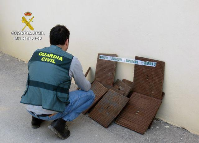 La Guardia Civil detiene/investiga a dos personas dedicadas a la sustracción de tapas de alcantarillado - 1, Foto 1