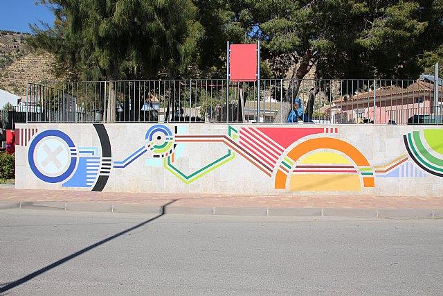 Un nuevo mural decora las paredes del jardín de Nochebuena - 1, Foto 1