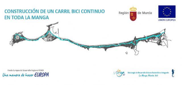 La Comunidad adjudica por 836.000 euros la construcción del nuevo carril bici en La Manga - 1, Foto 1
