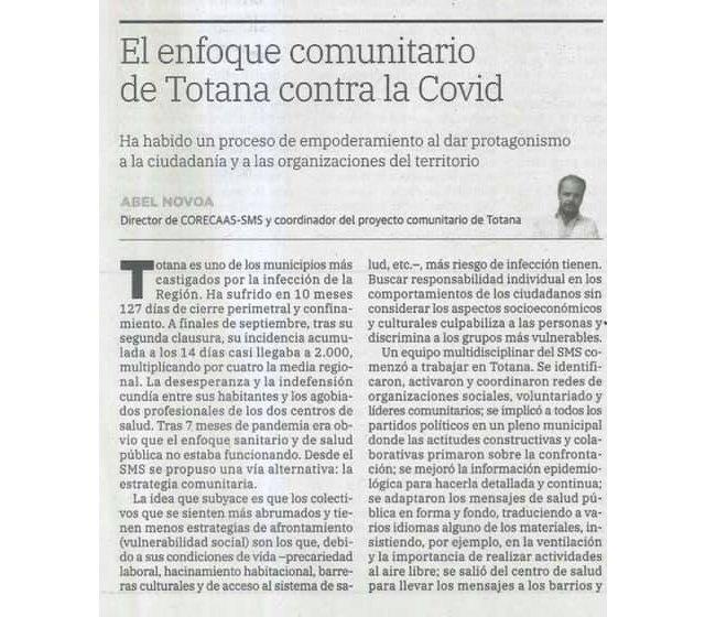 Un interesante y certero artículo del Doctor Abel Novoa que publica hoy el diario La Verdad - 2, Foto 2