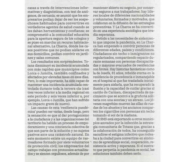 Un interesante y certero artículo del Doctor Abel Novoa que publica hoy el diario La Verdad - 3, Foto 3