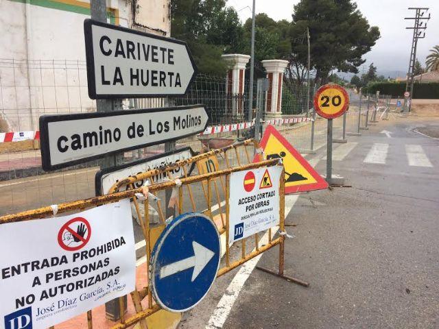 Entran en su última fase las obras de reparación de la carretera C-7 de La Huerta a la altura del casco urbano
