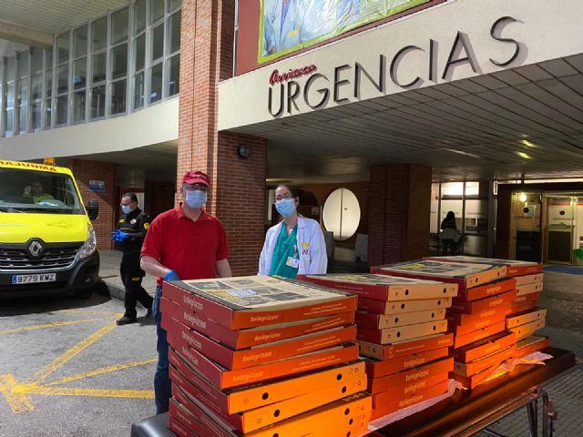 Telepizza realiza cerca de 200 donaciones a hospitales y fuerzas de seguridad de Murcia