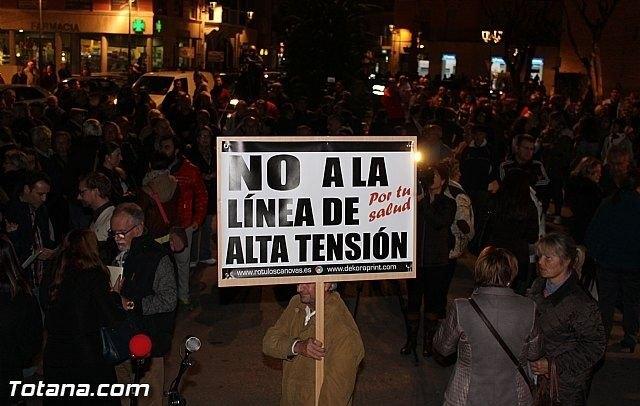 La Plataforma en contra de la línea de alta tensión Aledo-Totana anuncia su disolución - 1, Foto 1