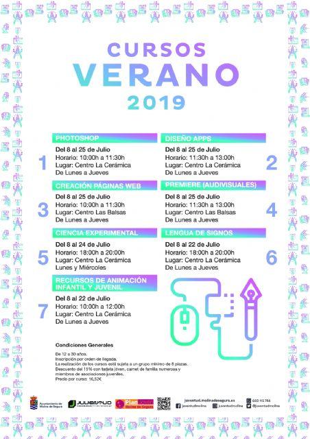 La Concejalía de Juventud de Molina de Segura ofrece un amplio programa de cursos para el verano de 2019 - 1, Foto 1