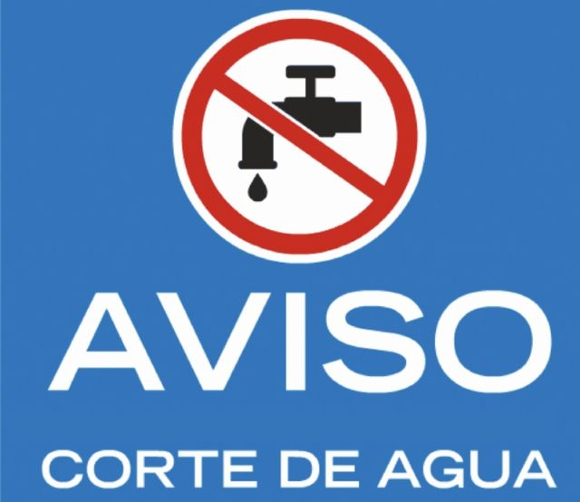 This Wednesday May 29 will be interrupted the water supply, with a duration of 24 hours, in different rural areas of the lower districts