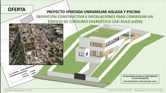 Diseña una casa con piscina con un consumo energético casi nulo en su trabajo final en Edificación - 2, Foto 2