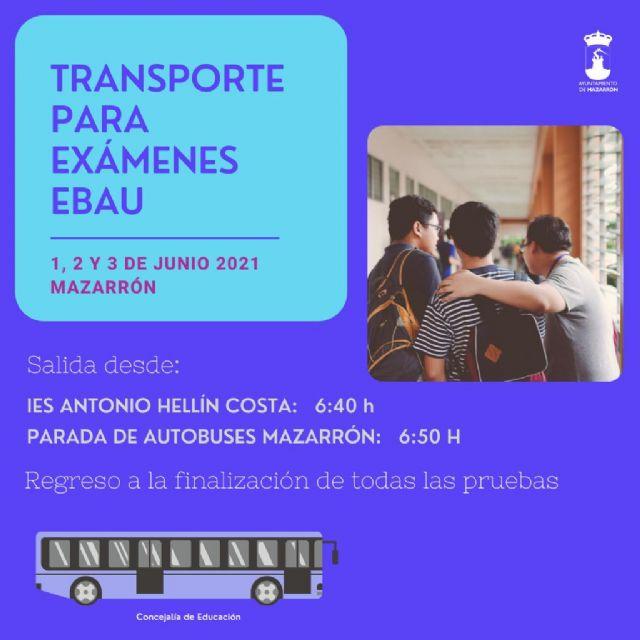 El ayuntamiento habilita autobuses para los exámenes de la EBAU los días 1, 2 y 3 de junio, Foto 1