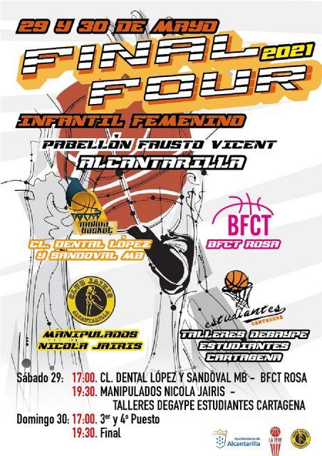 Alcantarilla acoge este próximo fin de semana la Final Four de Baloncesto Infantil Femenino - 1, Foto 1