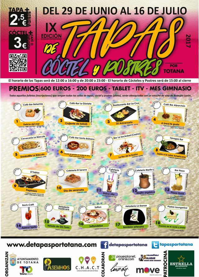 Hoy comienza la IX Ruta de las Tapas, el Cóctel y Postres de Totana, Foto 2