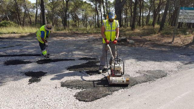 Arreglo urgente de baches en la carretera de las Cuestas del Marqués, Foto 3