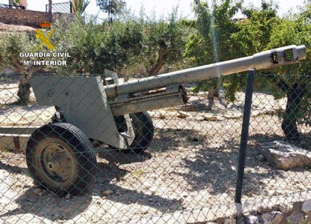 La Guardia Civil se incauta de cuatro cañones de artillería en una finca rústica de Abanilla - 2, Foto 2