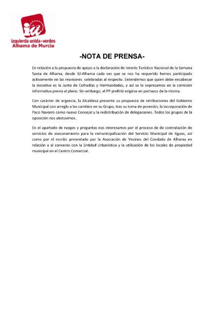Valoración del Pleno Ordinario del 26 de junio de 2018. IU-verdes, Foto 2