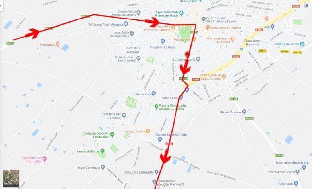 Restricciones al tráfico con motivo del Campeonato de España de Ciclismo 2019 a su paso por Alhama, Foto 1