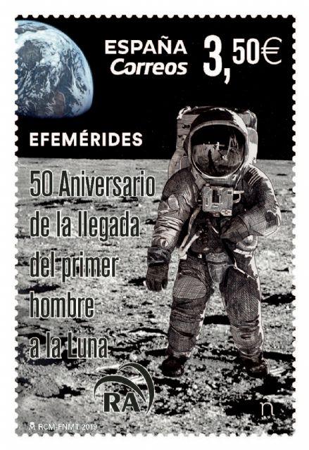 CORREOS presenta un sello que conmemora el 50 aniversario de la llegada del hombre a la luna - 2, Foto 2