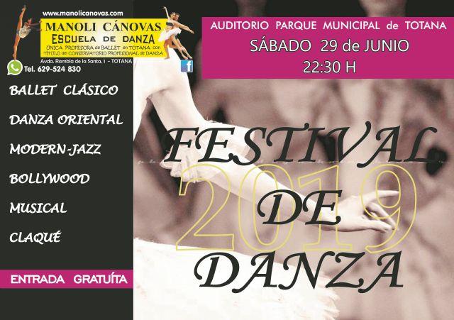 MANOLI C�NOVAS Dance School celebrates its end-of-course FESTIVAL tomorrow, Saturday, June 29