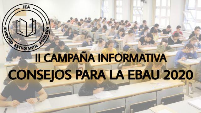 Juventud Estudiantil vuelve a lanzar su campaña de consejos de cara a la EBAU 2020 - 1, Foto 1