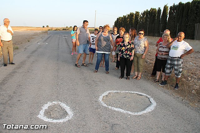 Denounce the parlous state of some sections of the roads Raiguero Low, Foto 1