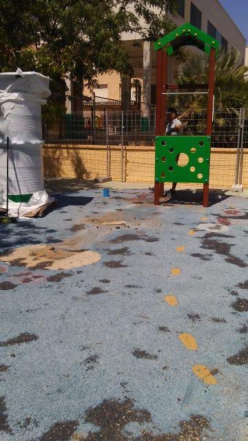 Sustituyen el pavimento de caucho de la zona de juegos infantiles del parque Tierno Galván e incorporan nuevos juegos - 3, Foto 3