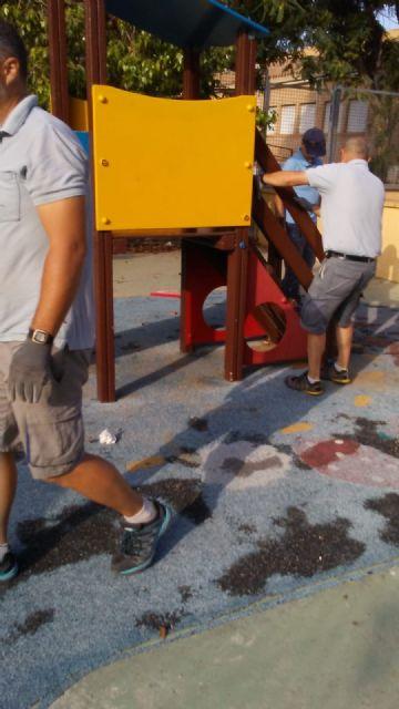 Sustituyen el pavimento de caucho de la zona de juegos infantiles del parque Tierno Galván e incorporan nuevos juegos - 4, Foto 4