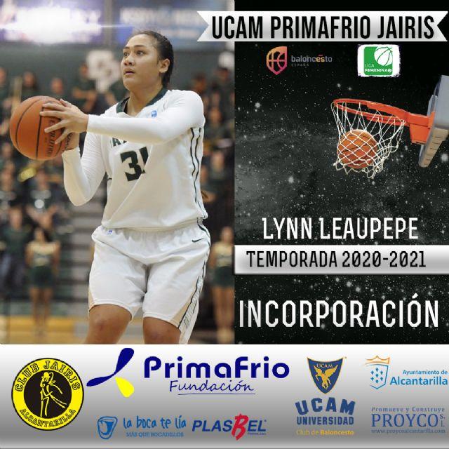 Lynn Leaupepe es la primera incorporación del UCAM Primafrio Jairis de LF2 - 1, Foto 1