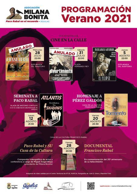 Milana Bonita anula actos veraniegos en recuerdo y homenaje a Paco Rabal - 1, Foto 1