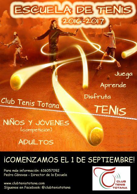 Inicio del curso 2016-17 de la escuela de tenis del club de tenis Totana, Foto 7