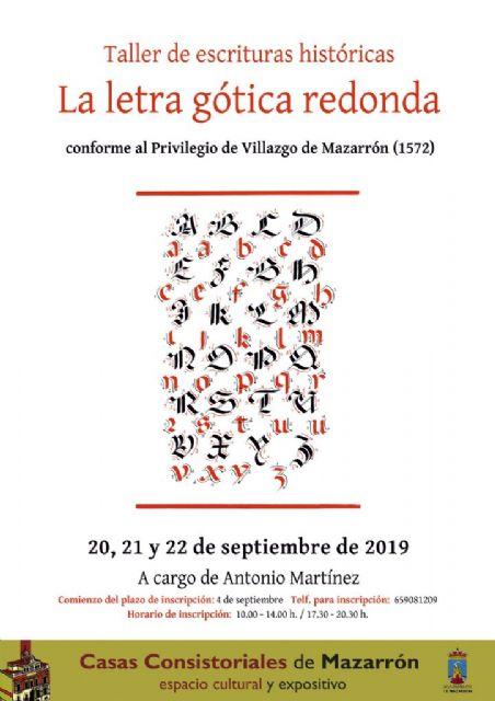 El taller de escrituras históricas regresa a Casas Consistoriales - 2, Foto 2